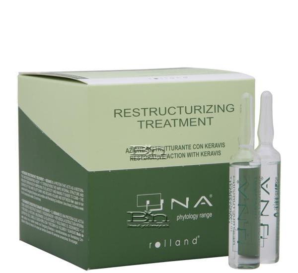 Rolland Una Restructurizing Treatment Ампули за сухи, изтощени и третирани коси 12Х10ml