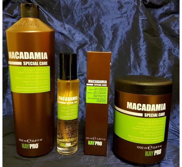 Kaypro Macadamia Промо Пакет Макадамия: Шампоан с Макадамия 1000мл + Балсам за коса с Макадамия 1000мл + Серум за коса с Макадамия 100 мл