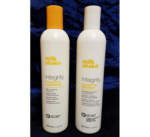 Milkshake INTEGRITY Промо пакет ( подхранващ шампоан за коса 300ml подхранващ балсам за коса 300ml_