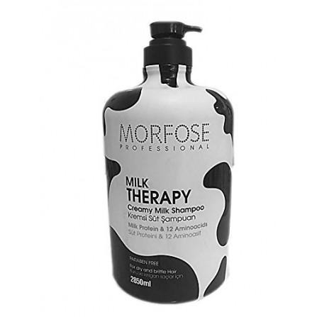Morfose Milk Therapy Shampoo Шампоан за сухи и изтощени коси с млечни протеини и 12 аминокиселни 1000мл