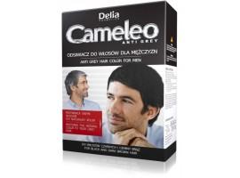Боя за мъже ефект Анти - Сиво за черна  и кафява коса DELIA COSMETICS CAMELEO ANTI GREY HAIR COLOUR ..