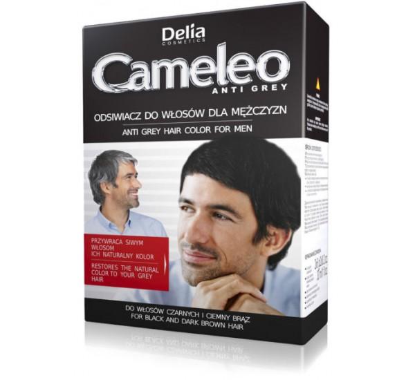 Боя за мъже ефект Анти - Сиво за черна  и кафява коса DELIA COSMETICS CAMELEO ANTI GREY HAIR COLOUR FOR MEN