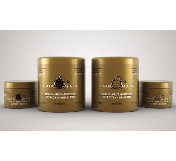 Imperity Gourmet  Jad Perfume Hair Mask Професионална маска за коса с аромат на парфюм на Dior с арган, кератин и копринени протеини 1000мл