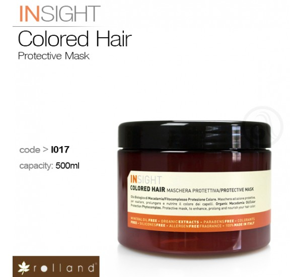 Rolland Insight Colored Hair-професионална маска за боядисана коса 500мл.