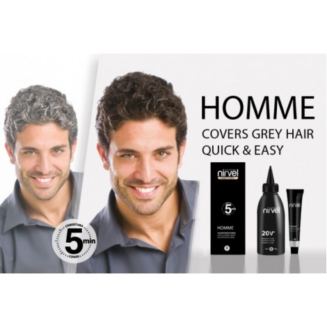 Nirvel Professional Men Hair Colour Cover Grey Hair Професионална боя за мъже без амоняк 30ml