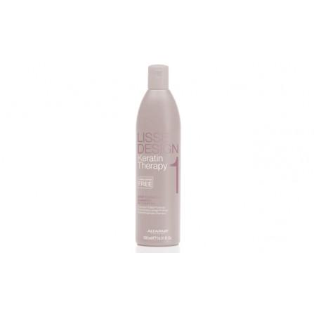 ALFAPARF Lisse Design Keratin Deep Cleasing Дълбоко почистващ шампоан за коса 500ml