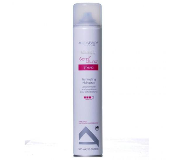 Alfaparf Semi Di Lino Styling Illuminating Hairspray Лак за коса - придава блясък и има силна фиксация 500ml