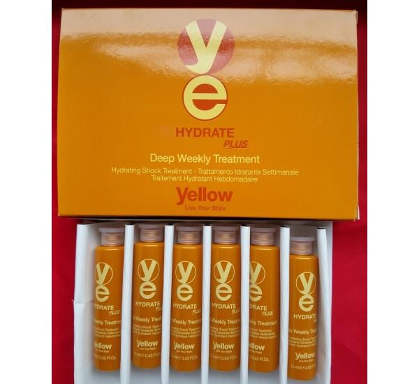Alfaparf Yellow Hydrate Plus Weekly Treatment  Ампули за дълбока хидратация на косата 6x13ml
