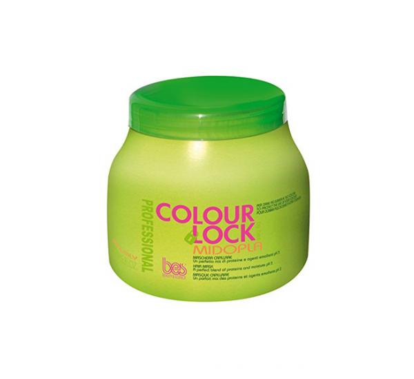 BES Colour Lock Midopla Mask Маска за боядисана коса с протеини 500ml