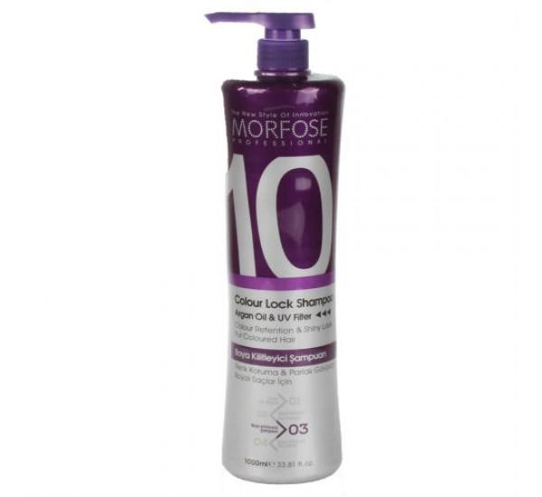Morfose 10 Color Lock Shampoo  Професионален шампоан за боядисани 1000ml