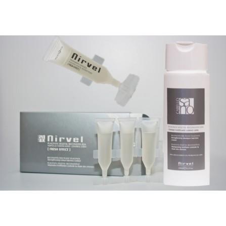 Nirvel Anti Hair Loss Shock Treatment Losion Ампули за стимулиране растежа на косата и спиране на косопада 10X10ml