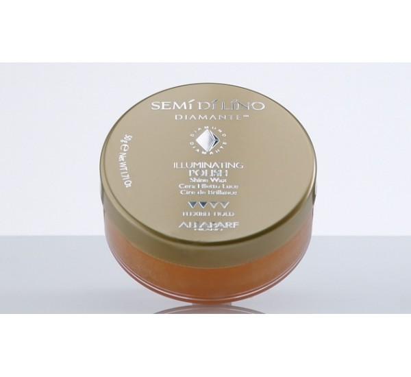 Alfaparf Semi di Lino Diamnte Illuminating polish Wax Професионална вакса с диамантен ефект и блясък 50ml